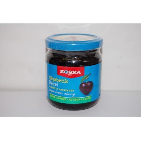 Dżem wiśniowy bez dodatku cukru (zawiera substancje słodzące) 240g