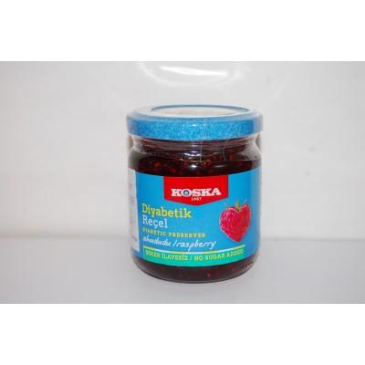 Dżem malinowy bez dodatku cukru (zawiera substancje słodzące) 240g