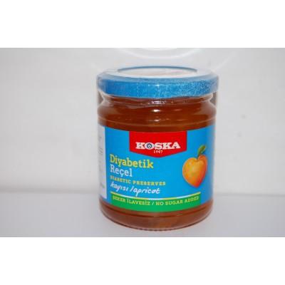 Dżem morelowy bez dodatku cukru (zawiera substancje słodzące) 240g